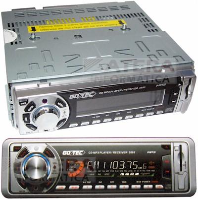Auto Rádio Multimídia Gotec 5993 MP3 200W RMS com USB