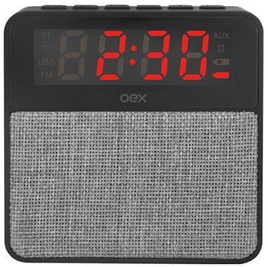 f43c9a9ca01 Rádio relógio bluetooth c  FM OEX CS100 c  som 10W RMS - Atera ...